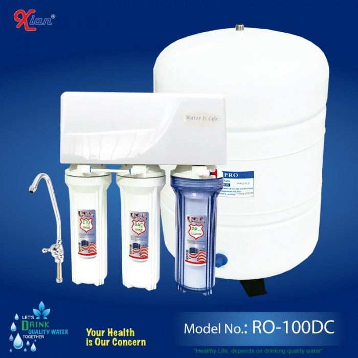 Xian RO-100DC - RO WATER PURIFIER for JOINT-FAMILY or SMALL-OFFICIAL