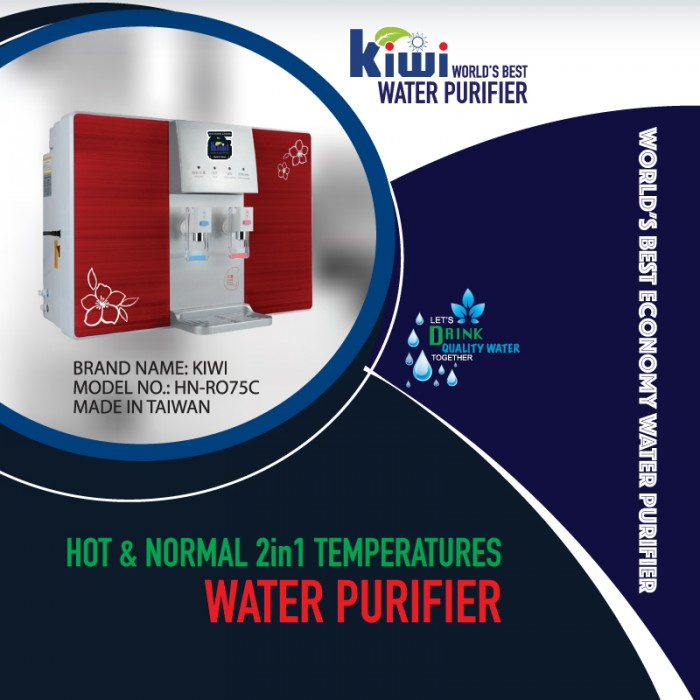 KIWI HN-RO75C - Hot and Normal Wall-mounted RO System